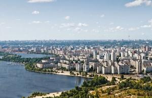 Полет на самолете над Киевом
