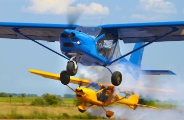 Парный полет на самолете